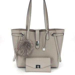 3PCS Michael Kors Cassie LG Tote Wallet Charms Set